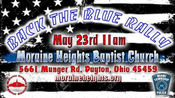 Back the Blue Rally flier May 2021